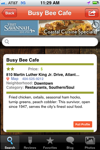 Lunch Idea: Which restaurants make the best soul food in town? Get our free dining app for iPhone, and let our staff be your guide