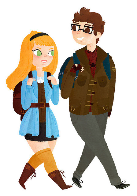 Gwen Stacy & Peter Parker on Flickr. If this movie ends up sucking, I'll be inconsolable AT LEAST.