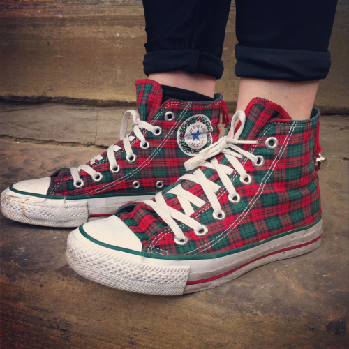 Converse Hi Top Christmas Edition ( made in USA )