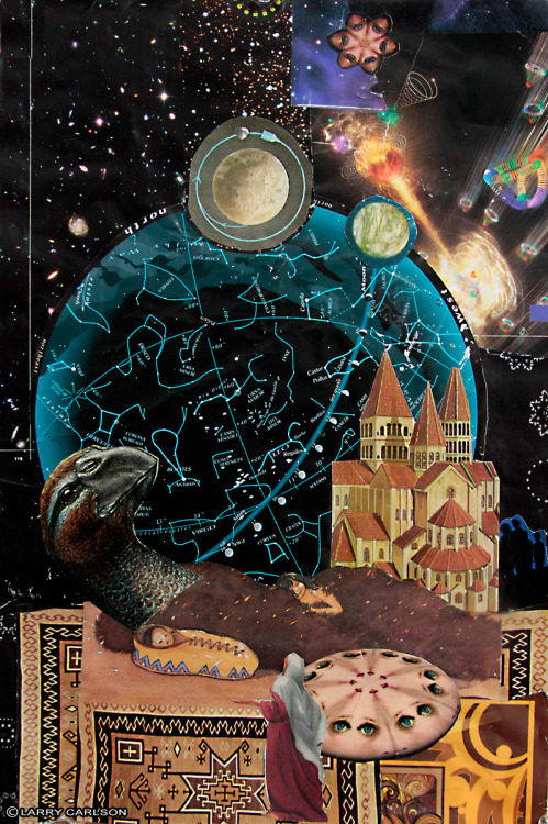 larrycarlson:  LARRY CARLSON, Tomazooma, collage on paper, 14x10in., 2012.