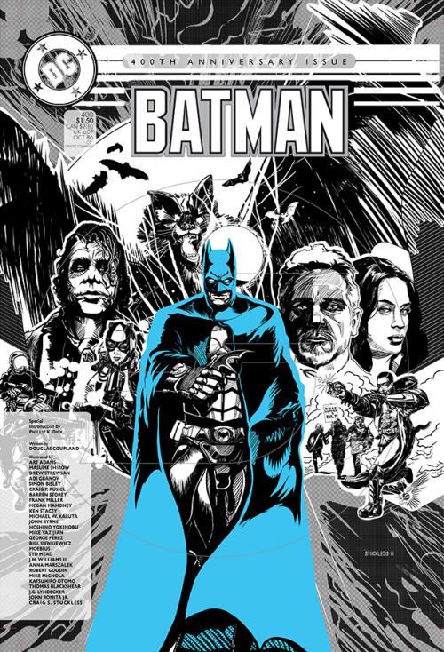 guillher:  Batman 400 w/ Christopher Nolan Batman Versions by Craig S. StucklessArtist's Note: I re-illustrated the Batman 400 Annual from 1986 with a twist by incorporating Christopher Nolan Batman Trilogy versions.   (via nerdwire)