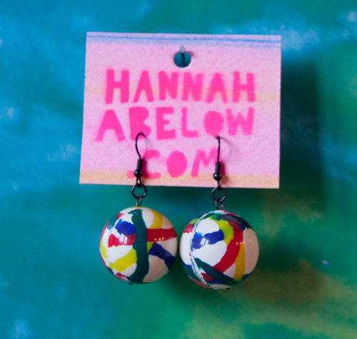 More Superball Bouncy Ball earrings! RIGHT HERE!