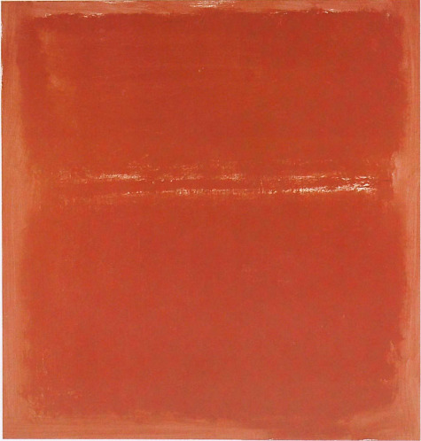 Mark Rothko (1903–1970). Untitled, 1970. Rothko returned to using color for his final three paintings after two years of painting in only blacks, grays, and browns.