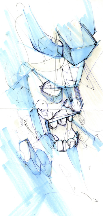 BLUE WARRIORCTA SKETCH SERIESILLUSTRATION | 2010 This exercise is very much premature but at his point in 2012, it's not right to revisit. The illustration had more thought and direction as I began to refine the subject. I only wish I put more time into it, as I began to find a purpose behind the subject.  - Remo