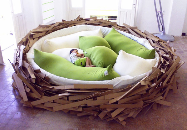 artpixie:  (via Design Don't Panic: Birdsnest Bed)  I want this bed!