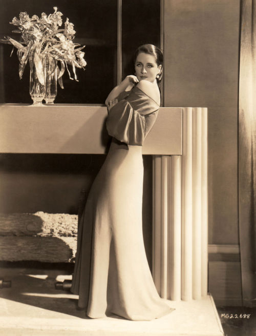 Norma Shearer 1934 wearing a gown by Adrian Photo by George Hurrell