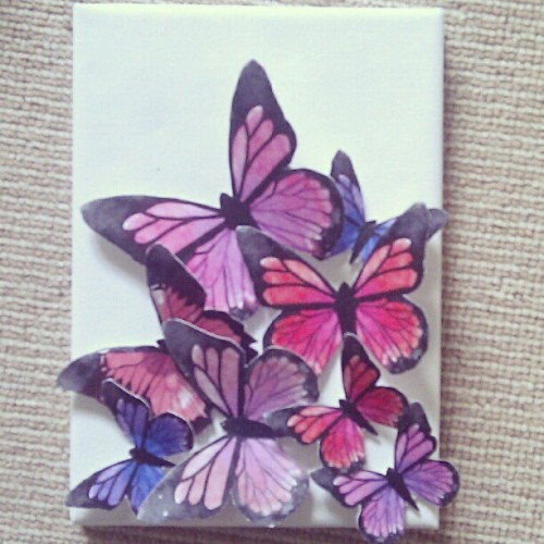 My mini butterfly canvas (Taken with instagram) available to buy here