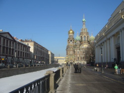 Where I am at the moment- St. Petersburg, Russia. If only it was a bit warmer for April!