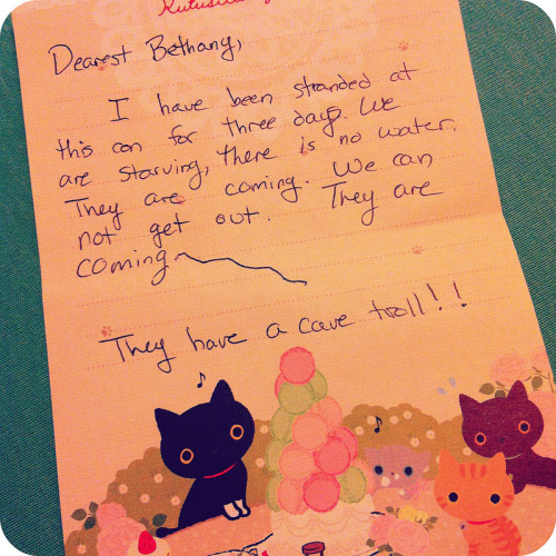 AK wrote me this note on her new kitten stationary.