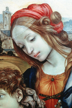 colourthysoul:  Filippino Lippi - Holy Family (detail)