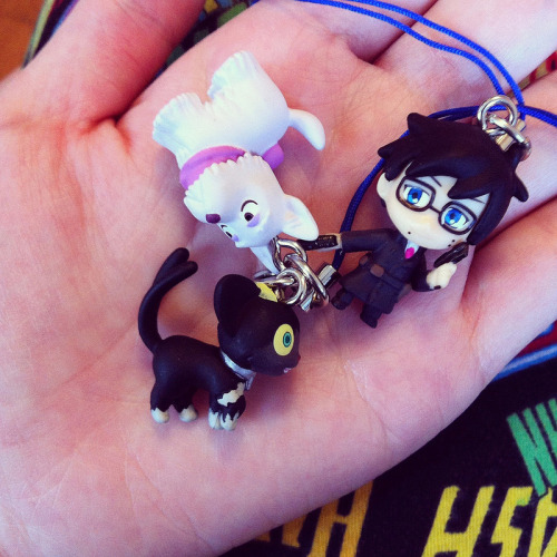 Anime Boston swag: Blue Exorcist cell phone charms (presents for Kim ♥)