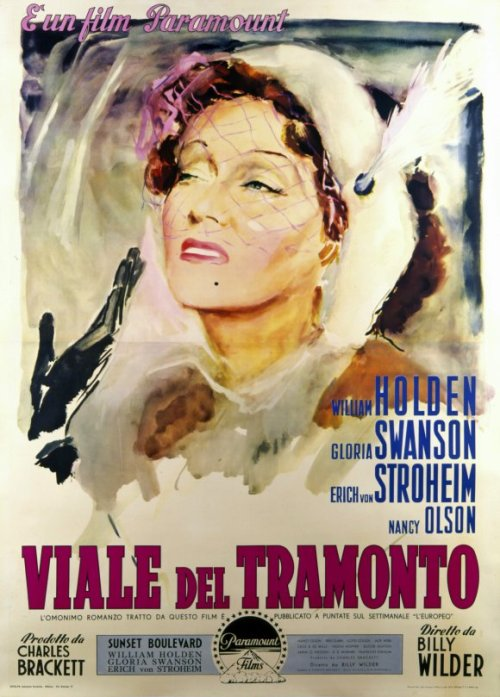 Italian poster for Sunset Boulevard