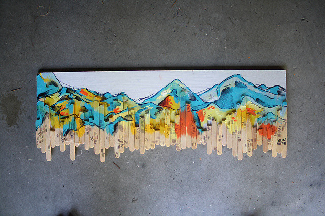 iamnonstop:  popsicle mountains. for sale: 70.00 email me about this: svet25_86@yahoo.com show some love and follow my work: here