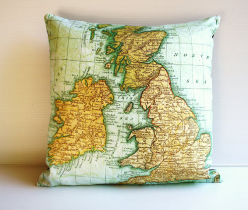Decorative UK pillow on Etsy