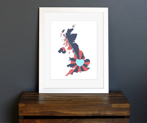 United Kingdom Love Art Print on Etsy