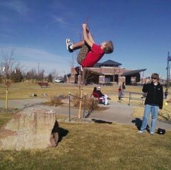 Me doing a baller ass backflip