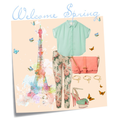 Welcome Spring by threetrendycorners featuring strappy heelsMonki sheer top, €30Current/Elliott cropped capri pants, $290Charlotte Olympia strappy heels, $1,075Orla Kiely leather bag, $450ASOS cross jewelry, $14