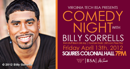 I WILL BE LIVE THIS FRIDAY AT VIRGINIA TECH View more Billy Sorrells on WhoSay