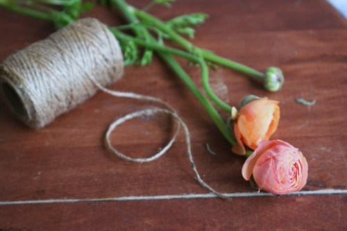 thepicnicbasket:  I'm only slightly obsessed with Ranunculus. Today is very much a steamy coffee & keep the light on in the daytime kind of day, which I also find perfect for flower arranging inside.