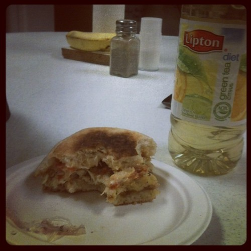 I love my job, free crab cake sandwich! (Taken with instagram)