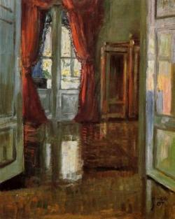 View into the Apartment of Leopold and Marie Czihaczek, 1907, Egon Shiele
