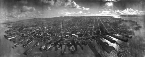 the ruins of San Francisco after the 1906 earthquake
