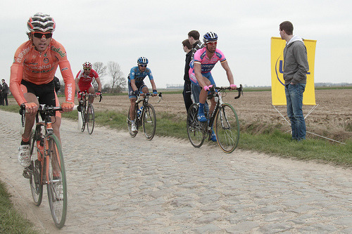 fuckyeahcycling:  Ion Izagirre Insausti | Paris-Roubaix 2012 (by ©HTO3) Izagirre, the only carrot to finish Paris-Roubaix.