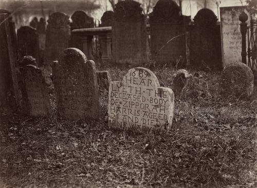 "tuesday-johnson: ca. 1864-69, ""Burial Ground, Wesleyan, Middletown, CT"", George Kendall Warren via the Museum of Fine Art in Boston, Photographs Collection"