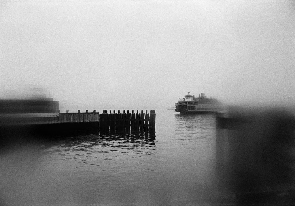 "Feb. 2, 1969: The Staten Island Ferry was ""the only nickel nightclub in town,"" according to an article that ran the following day, deeming the ferry ""a combination of subway and ocean cruise; of playground and library; of respite from frenzy and preparation for pleasure."" The reporter, Murray Schumach, found inspiration in these lines from a poem by Edna St. Vincent Millay: ""We were very tired, we were very merry/We had gone back and forth all night on the ferry."" Photo: Jack Manning/The New York Times"