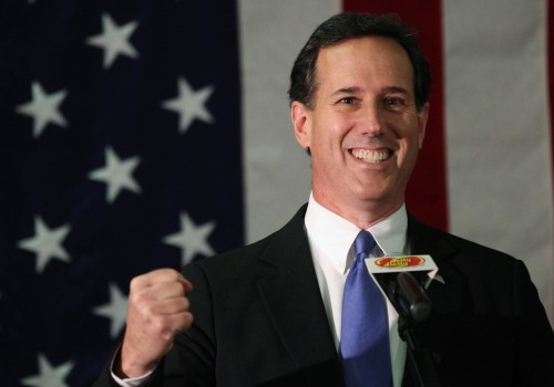 "inothernews:  reuterspolitics:  Rick Santorum suspends GOP nominee campaign U.S. conservative Rick Santorum dropped out of his presidential campaign on Tuesday after falling far behind front-runner Mitt Romney in the race for the Republican nomination. The former senator from Pennsylvania said he was suspending his campaign, effectively ending his bid to be the Republican who will face President Barack Obama in the November 6 general election. ""We will never be a country that can go forward as a great and powerful country again unless we remember who we are and what makes us Americans. That's what our campaign was about,"" Santorum said in Gettysburg, near the Civil War battle site. READ MORE: Santorum pulls out of U.S. presidential race  There is so much wrong and so much right with this photo but let's start with the part where Rick Santorum is speaking at a microphone with a Jelly Belly mike flag.  It's about time. Do you think he was scared of his showing in Pennsylvania?"
