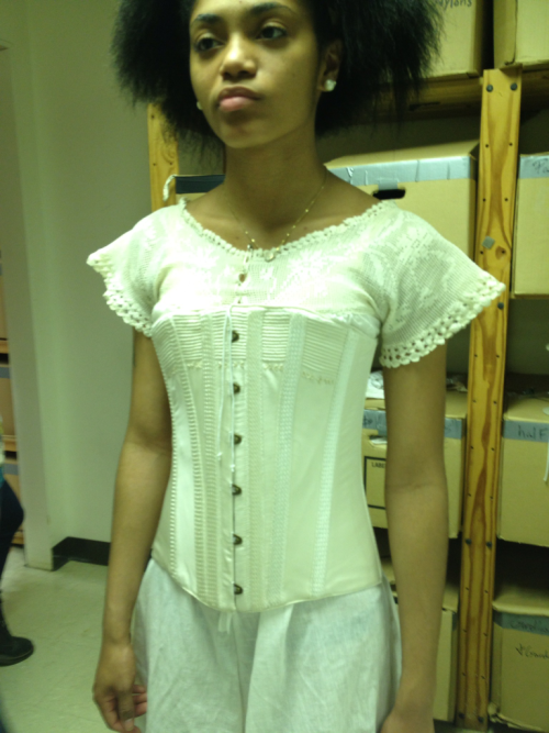 Corset fitting for Intimate Apparel. Designed by Anne Liberman.