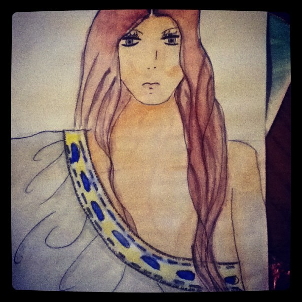 Feeling creative!¡. #fashion #drawing #fashionsketch #love (Taken with instagram)