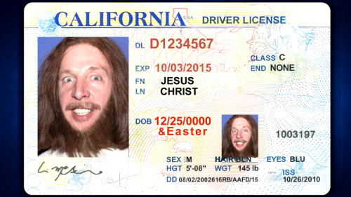 teamcoco:  Of course Jesus lives in California. [more blasphemous photos]