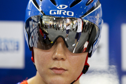 Jessica Varnish from Britain looks on before racing the Women's 500m Time Trial at the 2012 Track Cycling World Championships in Melbourne, on April 8, 2012. IMAGE STRICTLY RESTRICTED TO EDITORIAL USE - STRICTLY NO COMMERCIAL USE (Photo by Mark Gunter/AFP/Getty Images) (via Jessica Varnish From Britain Looks - Yahoo! Sports Photos)