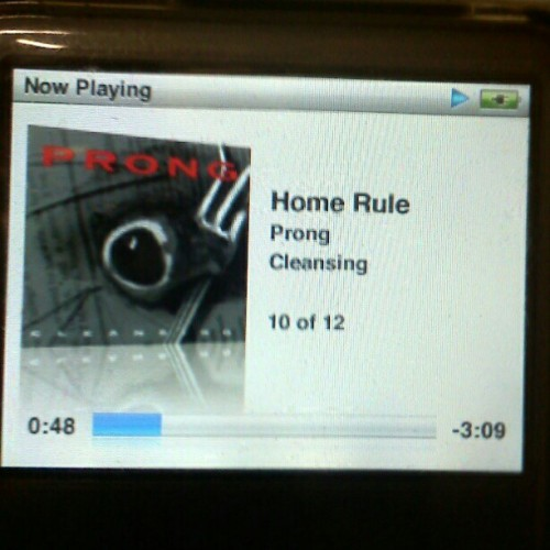 Fuck yes! #prong #cleansing #homerule #nowplaying #metal #tommyvictor #music (Taken with instagram)