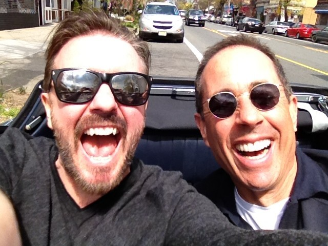 awesomepeoplehangingouttogether:  Ricky Gervais and Jerry Seinfeld