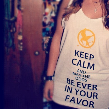 They're in! Order your Keep Calm And May The Odds Be Ever In Your Favor tank at www.savagecolors.com ( ps. they are unisex..and awesome)