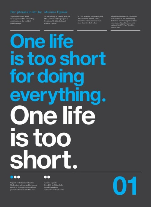 One life is too short…