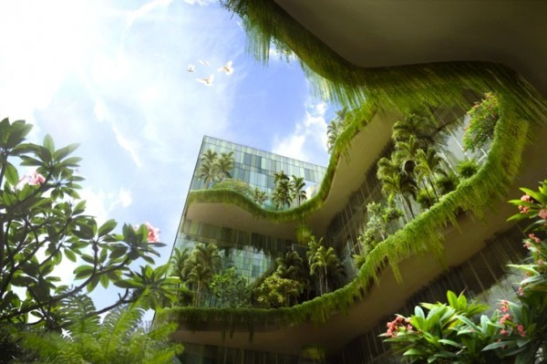 "A Brief Survey of Vertical Gardens, Skyscrapers, and Edible Restaurants Notice the bevy of green architectural concepts floating around the internet? I don't mean the office building proposals with low carbon footprints, or novel approaches to solar farms. I'm talking about literal green concepts—bringing the bounty of the farm to urban landscapes. Flavorwire has put together a stack of innovative and inspiring ""plant buildings,"" all with one thing in common: they're taking after Patrick Blanc in a big way. Thanks to the French botanist's Orchid Show designs here at the NYBG, New Yorkers are getting a taste of his creative ambition. The Green Man's vertical gardens, or mur végétal, have directly or indirectly inspired everything from skyscraper farms to edible restaurants, and the author phrases Blanc's legacy succinctly.  "" … Our favorite green-haired botanist has helped to usher in the post-industrial era's successor—a new design epoch that we think should be classified as The Age of the Plant.""  Click through for a few of the more daring ideas being courted in countries around the world. —MN"