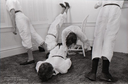 sfmoma:  The original plankers? Richard Peterson, Devo Planking! 1979, courtesy Gildar Gallery and Carmen Wiedenhoeft Gallery via Open Space