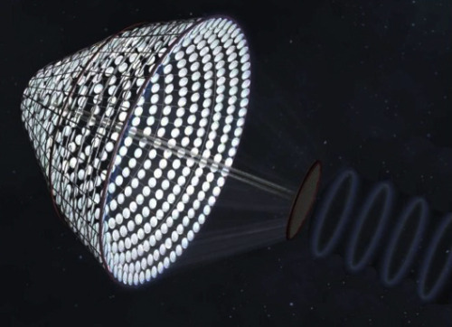 A New Take on Space Solar Power - A concept called Space Power Satellite via Arbitrarily Large Phased Array proposes to break the components of a space based solar power system into small elements each weighing no more than 200 kilograms. This would enable many smaller launch vehicles to transport them to orbit, increasing competition and reducing launch costs; ultimately making space based solar power price-competitive when compared with other terrestrial sources of energy.  SPS-ALPHA was designed after nature, which is known as being biomimetic. Biomimetic designs often prove to have greater efficiency than anything we design, or in this case a more efficient structure. SPS-ALPHA has been selected by NASA for further research an evaluation. […] Under the Obama administration, NASA's mandate has shifted from science towards investigating long-term space habitation solutions, and SPS-ALPHA could prove to be irresistible.