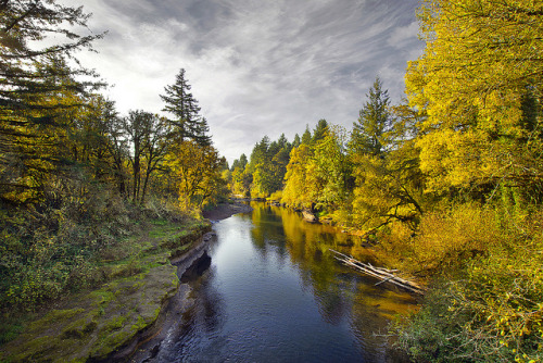 View of Thomas Creek from Hannah Covered Bridge Oregon in the Fall - HDR by David Gn Photography on Flickr.Thomas Creek from Hannah Covered Bridge