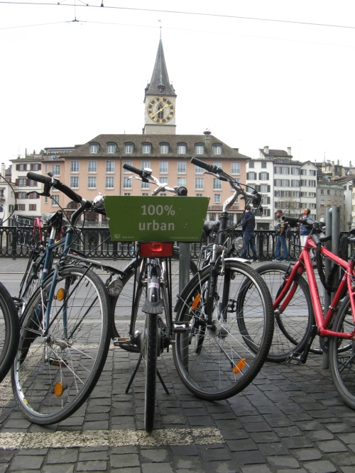 Spotted during a recent trip to Zurich - The bicycle: 100% urban!