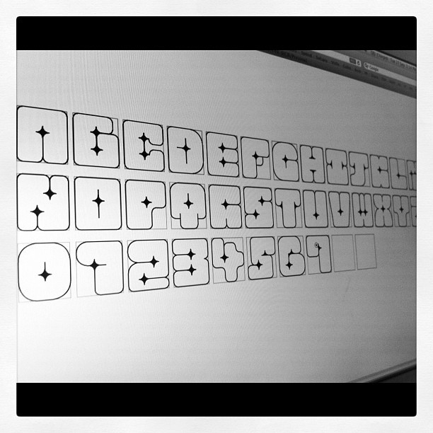 Messing around at making a font (Taken with instagram)