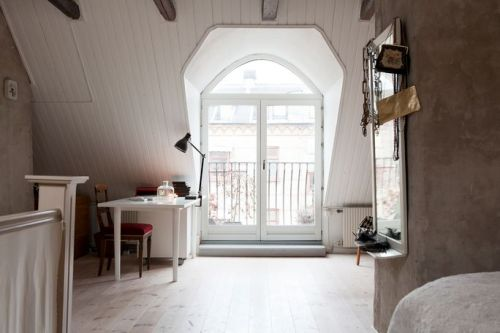 Source: My Scandinavian Home Such a luxury to have all that attic space. Jealous.