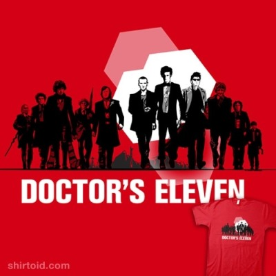woolamaloo:  Doctor's Eleven. Eleven incarnations, one Time Lord, one spectacular hiest…