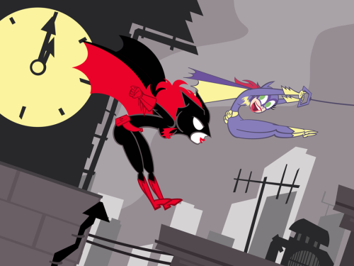 Super Best Friends Forever Batwoman and Batgirl by *PixelKitties