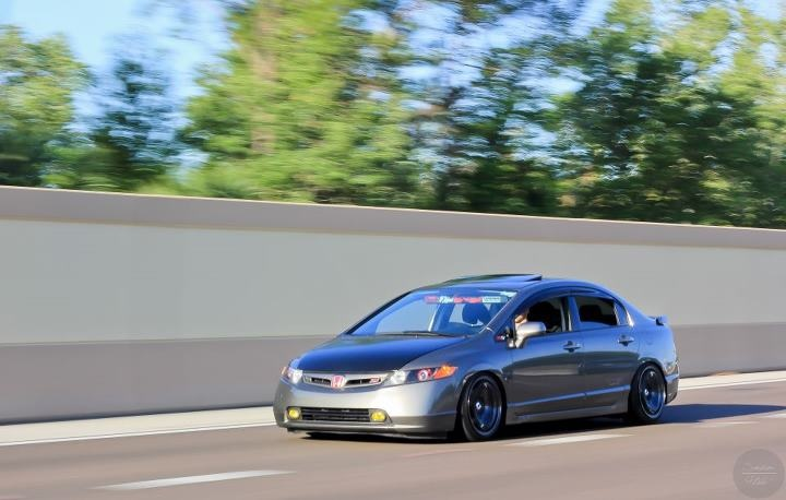 Me driving my civic to the v2lab mystrey meet