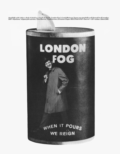 London Fog ad, 1965 brilliant
