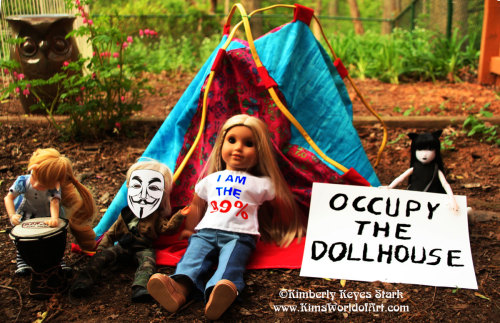 The new Occupy the Dollhouse movement is set up at Dollotti Park.